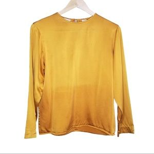 Anne Klein II Yellow and Gold Ombre Silk  …
